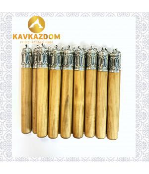 Газыри, комплект 16шт (серебро)